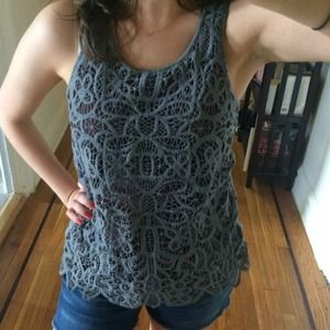 BUNDLED Macramé merino wool JCrew tank!