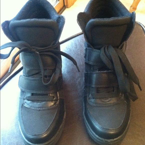 15nyla Blk Wedge Sneakers | Poshmark