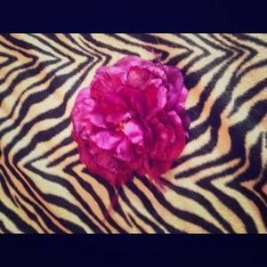  Purple flower hair clip and lapel pin 