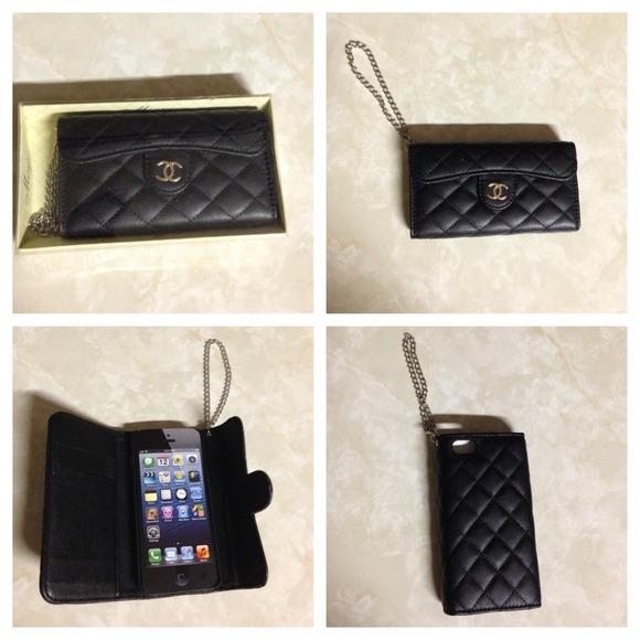 CHANEL Accessories   Iphone 5 Wristlet Wallet   Poshmark