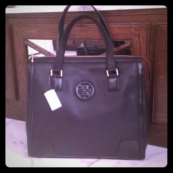 Tory Burch Handbags - **SOLD**Tory Burch Hannah Tote/ Black