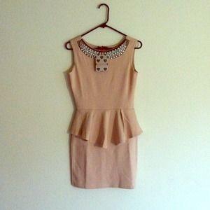 Tiffany Embellished Peplum Dress