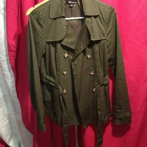 Forest green trenchcoat