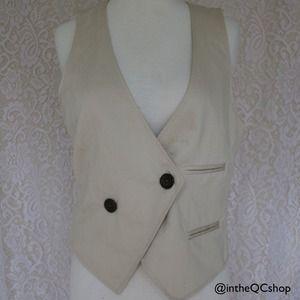 H&M Tops - Asymmetrical cream vest.  H&M, size 8.