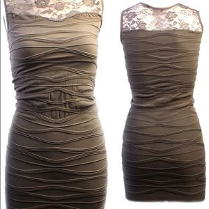 Dresses & Skirts - Grey stretch beautiful dress.