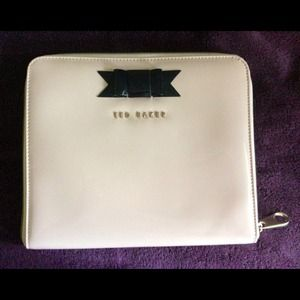 Ted Baker Bow iPad Case. Patent Leather Blush Pink