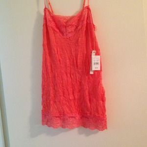 NWT coral lace tank top