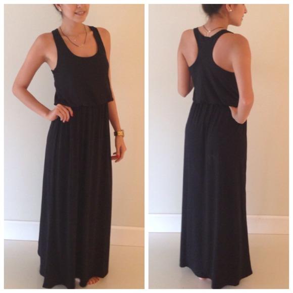 Dresses Gorgeous Black Racer Back Maxi Dress Poshmark