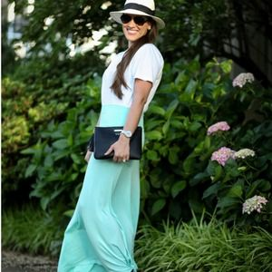Mint Green Maxi Skirt S!
