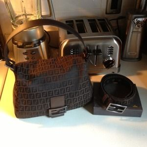 Fendi Zucchino Mama Bag. Belt is not for sale.