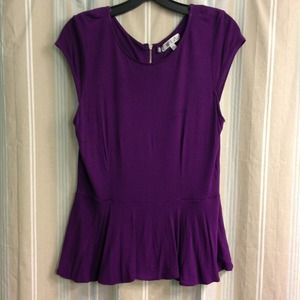 Jennifer Lopez for Kohl's purple peplum top