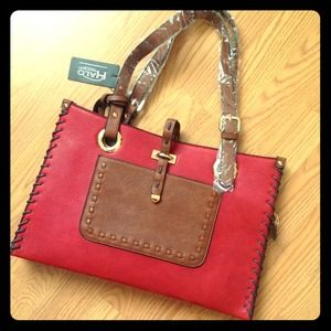 Handbags - Red & Brown File Purse