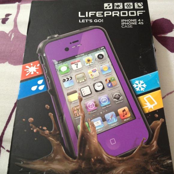 designer fashion 5c39c 94856 Purple lifeproof case iphone 4 / Astoria orange park fl