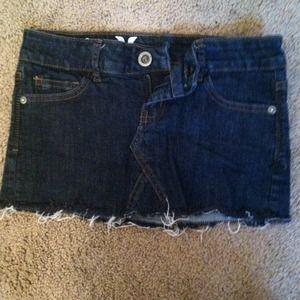 Hurley mini denim skirt