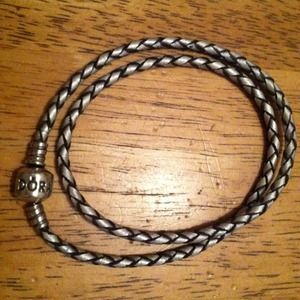 Jewelry - Pandora Double Wrap Champagne Leather 🌟ON HOLD🌟