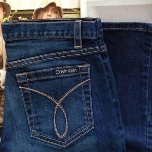 calvin klein flare jean