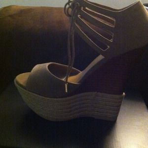 Size 8.5 wedges never been worn!!!
