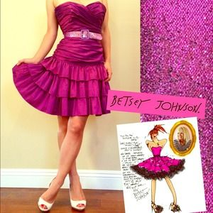 Betsey Johnson Dresses & Skirts - Sold! Betsey Johnson purple strapless dress