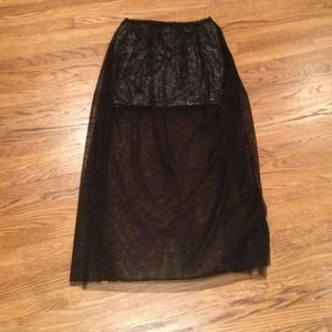 Rare and stylish sequined and sheer black skirts