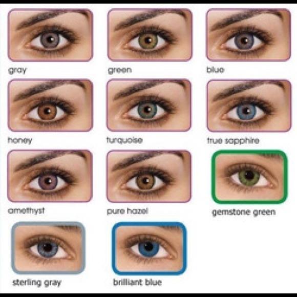 Non Prescription Colored Contacts >> Gemstone Green Non Prescription Color Contacts Nwt
