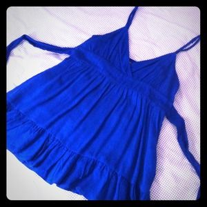 Forever 21 Royal Blue Babydoll Top
