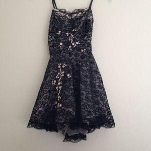 Outerwear - Vintage Black Lace Nightie/Top