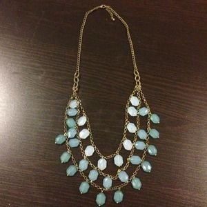 3 strand bronze and blue Urban Outfitters necklace