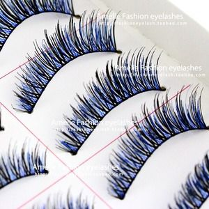 Other - Black and blue faux lashes set of 5