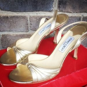 Jimmy Choo Shoes - 🎉🌻HOST PICK❗️🎀Gold Jimmy Choo Heels