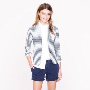 BUNDLEDJCrew Factory striped blazer