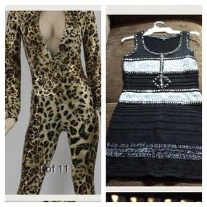 Other - Silver Dress & Leopard Jump Suit
