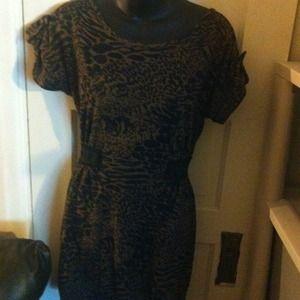 Animal print dress or top