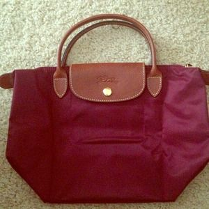 71d86f055ae4 Classic Pink Irisdescent SuedeJumbo Double Flap Brand New Mini Long Champ  Le Pliage Fold-Up Tote Used Authentic ...
