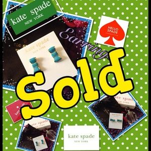 %Authentic Kate Spade Take a bow earrings