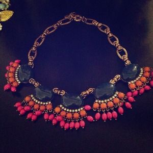 NEW J.crew fan fringe necklace