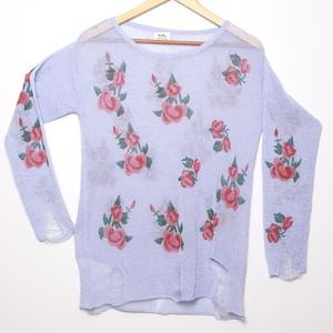 Violet Pullover Knitwear Long Sleeve Sweater