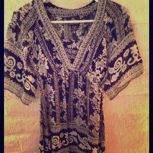 Black&white tunic