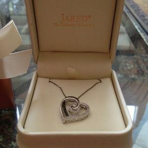 Tiffany Co Jewelry Jared Diamond Heart Necklace Poshmark