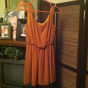 Dresses & Skirts - WORN ONCE CHIFFON BURNT ORANGE DRESS