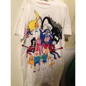 adventure time Tops - White adventure time shirt.