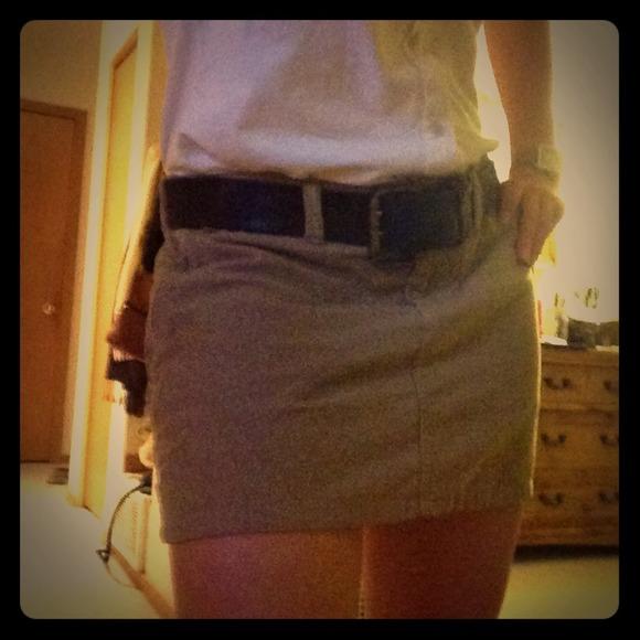 89% off SO Dresses & Skirts - Donated! Tan corduroy mini skirt ...