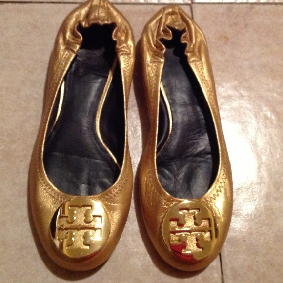 Tory Burch Metallic Reva Flats discount find great cheap low price clearance view hxtDc7