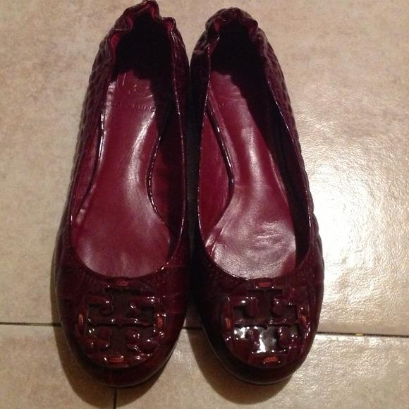 e83767d849a0 TORY BURCH Burgundy Red Croc Ballet Flats Sz 6.5. M 51b887bce76a443ec000ccd1
