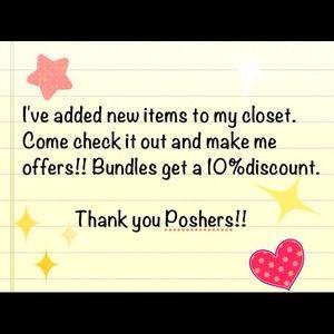 New items in closet!!