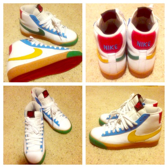 newest collection b67e0 04d4e Nike Shoes - Nike Blazer GS white-blue-red-yellow-green