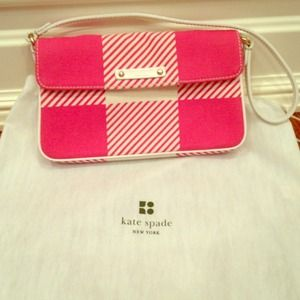 Kate spade authentic purse (pink and white stripe)