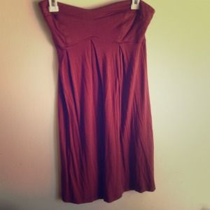 Dresses & Skirts - Soo cute rust colored strapless dress !
