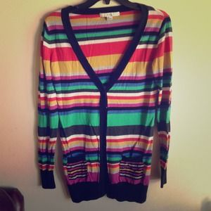 Forever 21 Sweaters - Oversized colorful striped sweater !