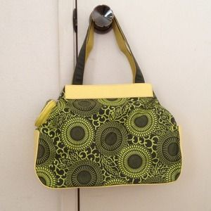 Green and Yellow Nylon Tote Bag