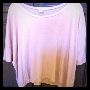 Pale peach short sweater